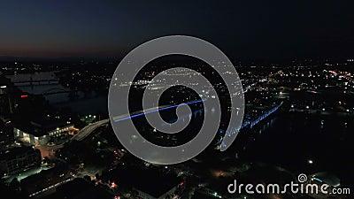 阿肯色州空中小石城2016年9月4K 股票录像