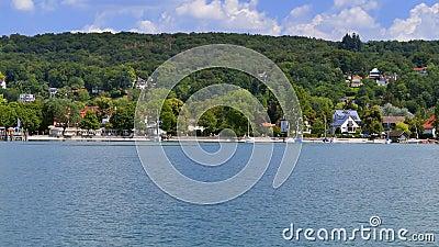 阿默湖的,巴伐利亚,德国阿默湖畔黑尔兴 股票视频