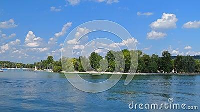 阿默湖的,巴伐利亚,德国阿默湖畔黑尔兴 股票录像