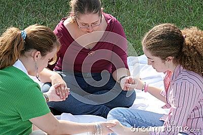 青少年1个圈子的祷告