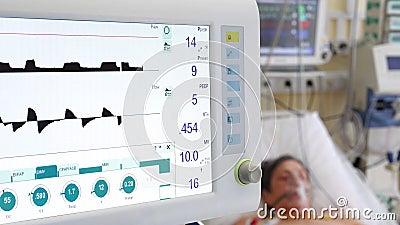 非侵入性通气在肺炎患者中的应用 股票录像