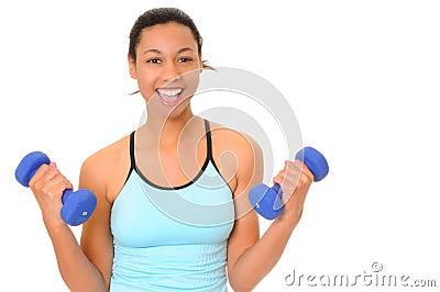 非洲裔美国人的健身女孩健康