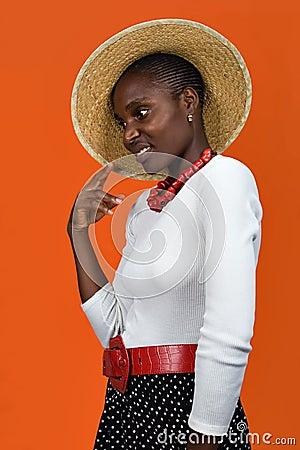 非洲裔美国人的女孩帽子 2252374