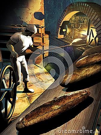 面包师在工作图片