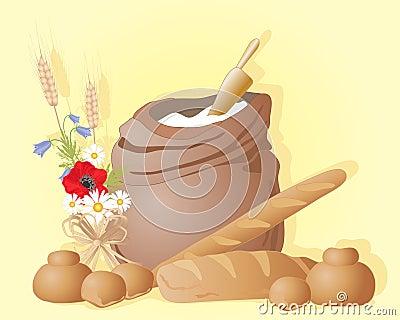 面粉大袋图片