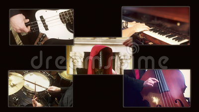 音乐爵士乐四重唱构成A 股票录像