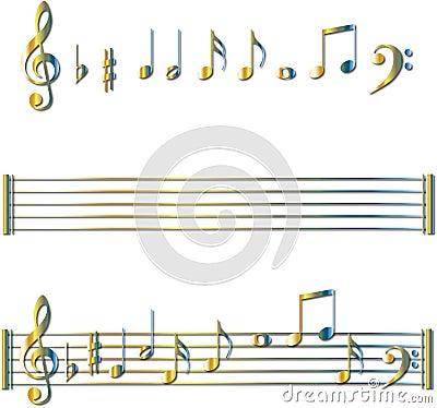 音符集合符号 库存照片 - 图片: 8803343