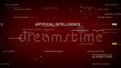 主题词人工智能红色