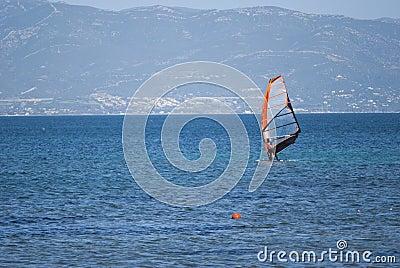 风帆冲浪的撒丁岛