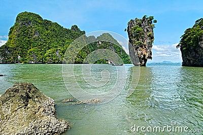 风景Phang Nga的海湾