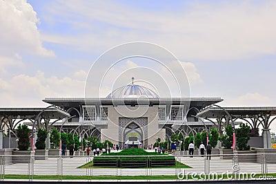 马来西亚清真寺 编辑类库存图片