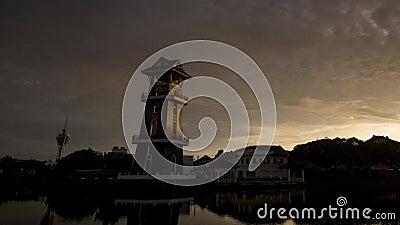马来西亚阿罗士打河畔美丽的日出时光 影视素材