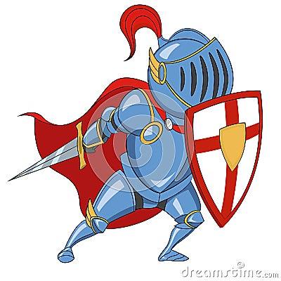有盾的骑士 也corel凹道例证向量.图片