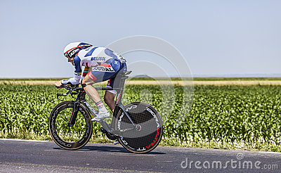 骑自行车者亚当汉森 编辑类库存图片