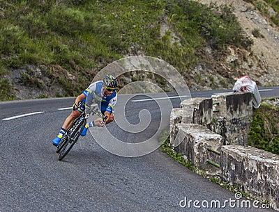 骑自行车者迈克尔Albasini 编辑类库存图片