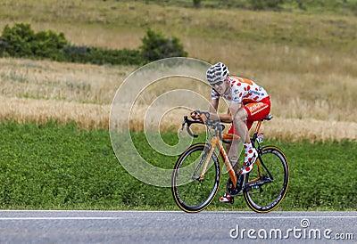 骑自行车者Mikel Nieve Iturralde 编辑类库存图片