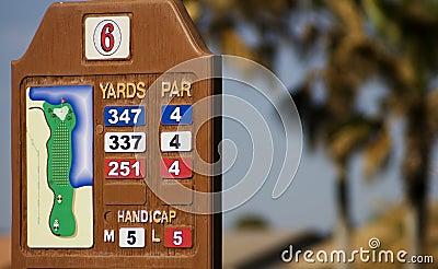 高尔夫球场立方码标记