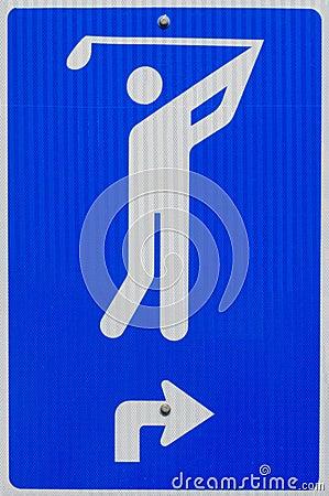 高尔夫球符号