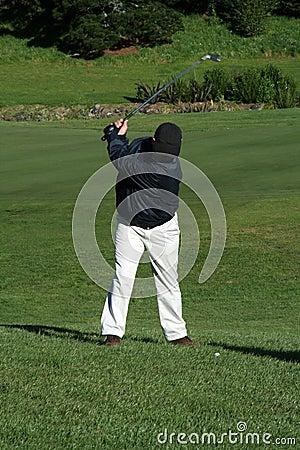 高尔夫球运动员摇摆