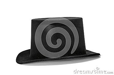 高顶丝质礼帽