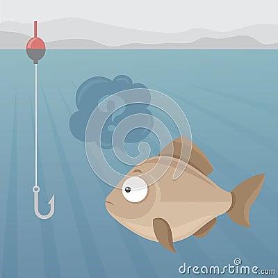 鱼和鱼钩 库存图片图片