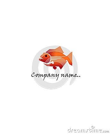 背景能您公司商徽鱼图标图象徽标被传统化的符号纹身花刺使用的向量