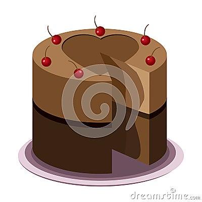 鲜美蛋糕的巧克力