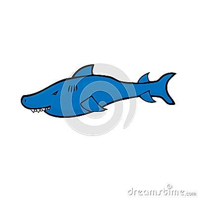 鲨鱼漫画人物图画传染媒介.图片