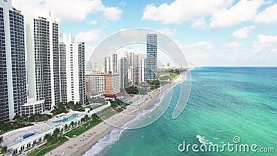 鸟瞰图北部迈阿密海滩