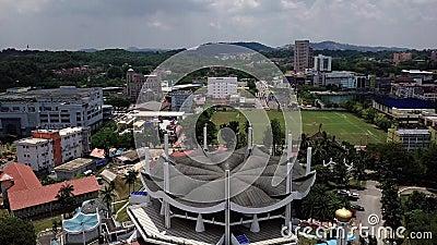 鸟瞰图湖在seremban马来西亚 股票录像