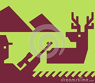 鹿猎人步枪偷偷靠近通配
