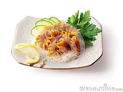 黄瓜混合章鱼葱荷兰芹