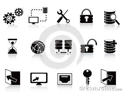 黑色数据库图标技术图片