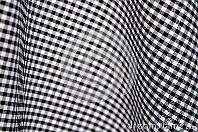 黑色检查方格花布白色