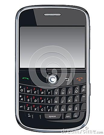 黑莓电池pda电话向量