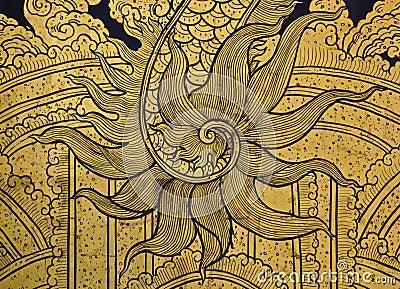 龙绘画尾标图片