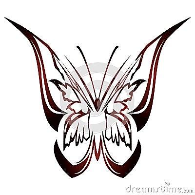 蝴蝶设计纹身花刺 库存图片
