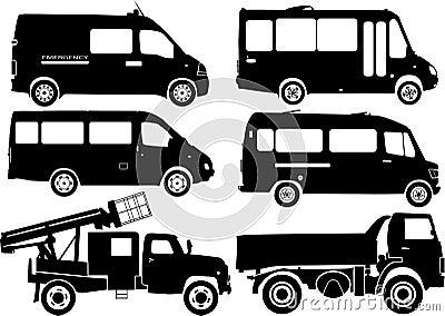 διάνυσμα σκιαγραφιών αυτοκινήτων