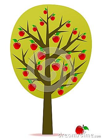 διάνυσμα δέντρων μηλιάς