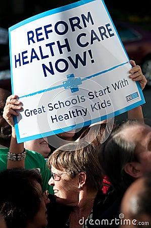 διαμαρτυρία υγείας προ&sigma Εκδοτική Στοκ Εικόνες