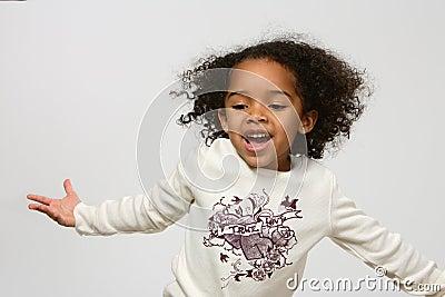 девушка афроамериканца