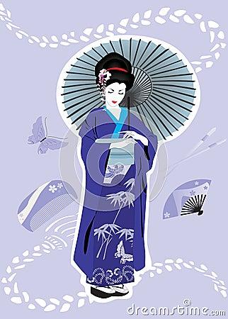 девушка гейши