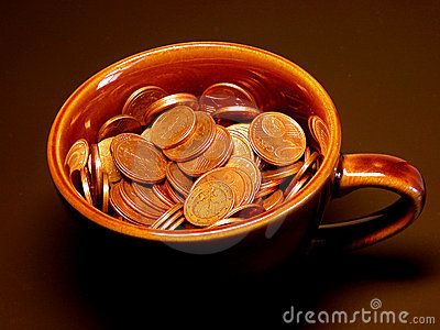 деньги чашки