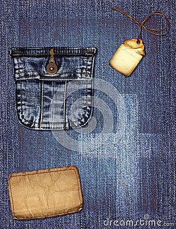 джинсовая ткань коллажа