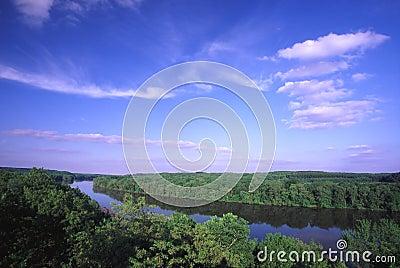 долина утеса реки illinois
