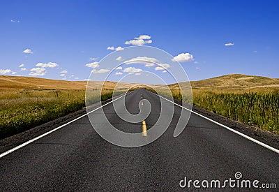 дорога прямо