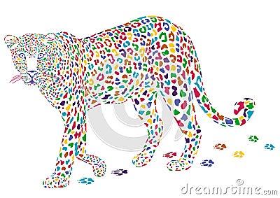 更五颜六色的豹子