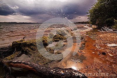 贝加尔湖海岸线