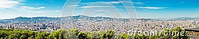 巴塞罗那都市风景。 西班牙。