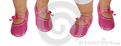 婴孩英尺或鞋子
